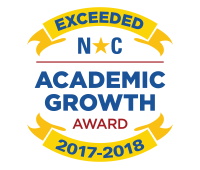 NC Seal for Exceeding Academic Growth in 2017-2018