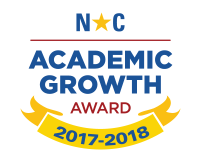 NC Seal for Academic Growth in 2017-2018