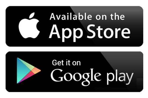 available on the App Store or Get it on Google Play