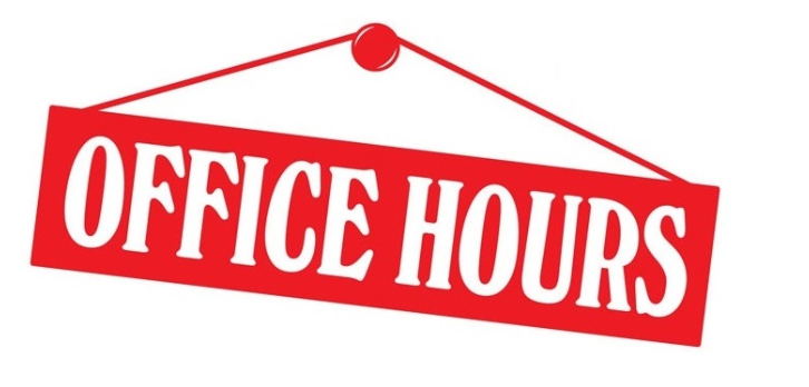 Distance Learning Office Hours & Zoom Times